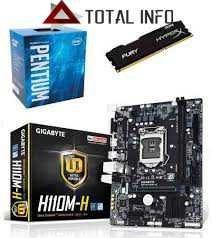 Kit 7ª Geração Ga-h110m-h + Pentium G4560 + 4gb Ddr4