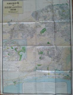 Planta Polivisual Do Rio De Janeiro E Niterói - Mapa 1983