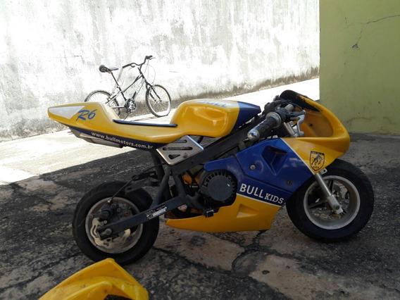 Mini Moto Bull Motors R6 Usada Troco Por Pc Gamer/xbox One