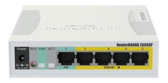 Switch 5 Portas Mikrotik Router Board - Rb260gsp