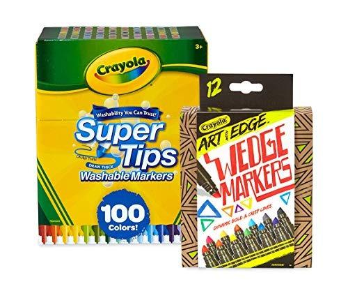Crayola Rotuladores Lavables De 100 Ct Supertipsart Con Marc