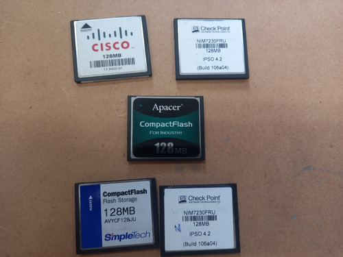 Kit 5 X Cartao Compact Flash 128 Mb Cisco Checkpoint Apacer