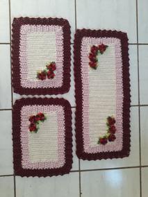 Tapete De Croche Com 3 Pecas