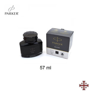 Tinta Para Pluma Fuente. Parker 57 Ml. Color Negro.