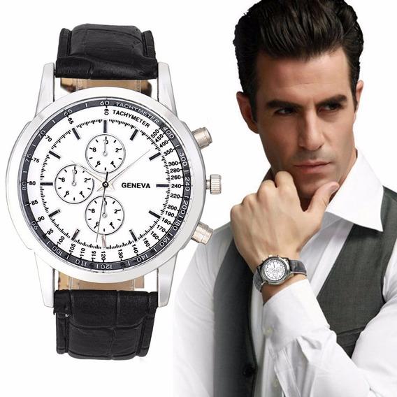 Relógio Para Homens De Couro Casual - Relógio De Pulso
