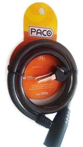 Cadeado Para Bicicleta Com Chave 12mm X 1000mm Xplore Paco