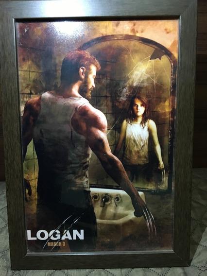 Quadro Decorativo Poster X-men Logan ( Com Vidro)
