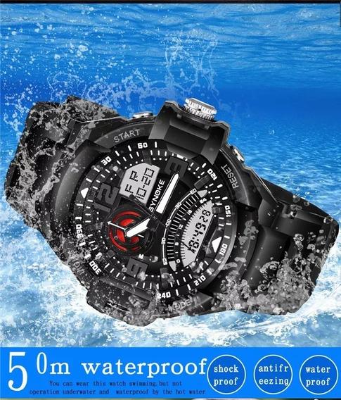Relógio Esportivo Casual Militar Synoke 67876 Prova D