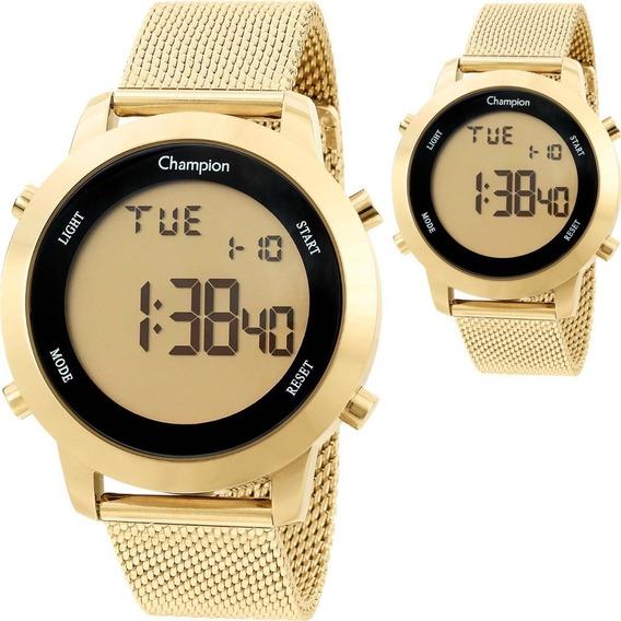 Relógio Feminino Champion Digital Dourado Ch40062g