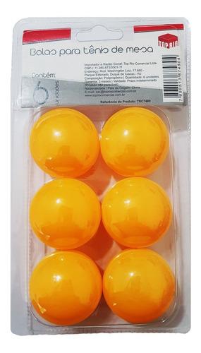 Bolinha De Ping Pong Com 6 Unidades Na Cartela