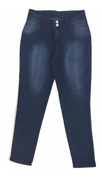 Promoção Calça Feminina Jeans Azul Plus Size 44 Frete Grátis
