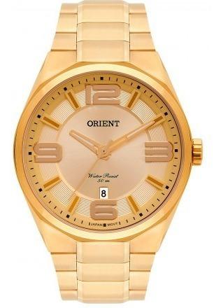Relógio Orient Masculino Dourado Mgss1151 C2kx