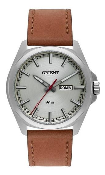 Relógio Orient Masculino Ref: Mbsc2011 S1mx Casual Prateado