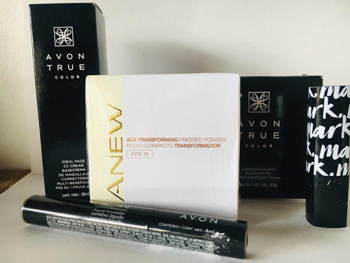 Kit De Maquillaje Avon X 5: Bas-correc-p - L a $296