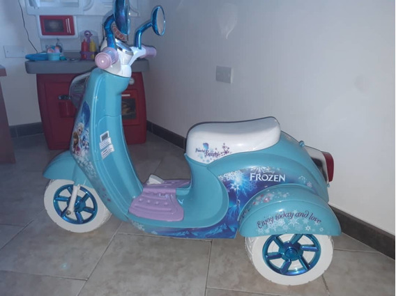 Moto Triciclo De Disney Frozen, De Batería Recargable