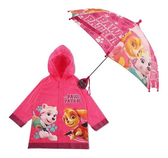 Impermeable Y Paraguas Para Niña Paw Patrol Nickelodeon