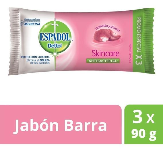 Espadol - Jabón Antibacterial Skincare Pack X 3 X 90 Grs