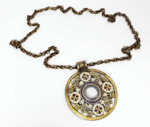 Colar Medalhão Vintage Estilo Medieval Antigo