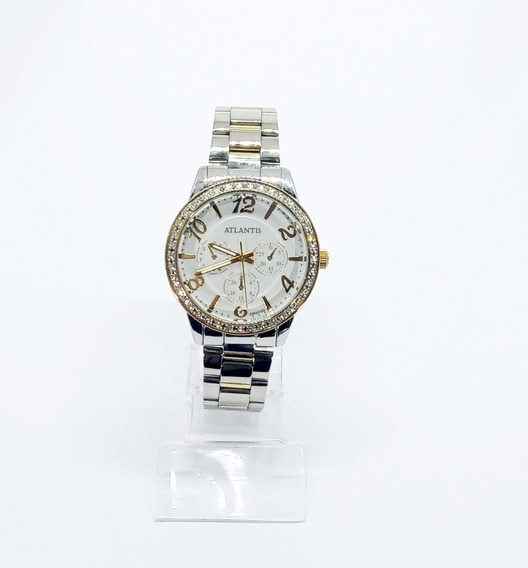 Relógio Atlantis Feminino Com Pedras G3383