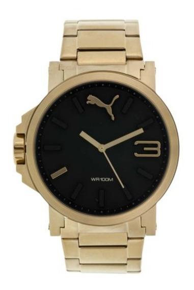 Relógio Puma Ultrasize Dourado - Promoção