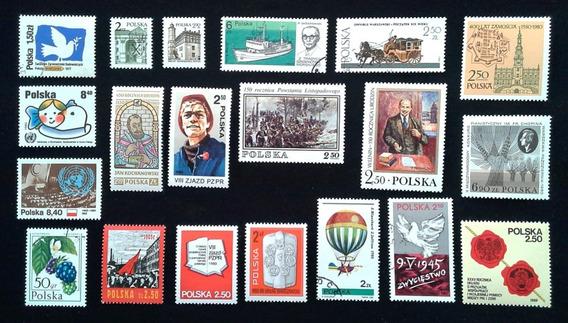 65 Estampillas Polonia Mint Años 80 + 2 Bloques + Varias