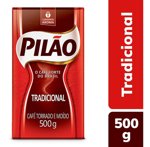 Café Torrado Moído A Vácuo Pilão 500g