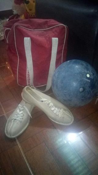 Bola De Bowlin, Zapatos Talla 37 Y Estuche Marca Winston