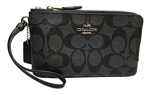Carteira Coach F58033 Outline Signature Lona (cinza) - Nova!