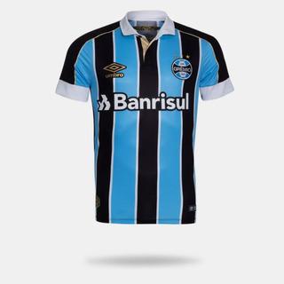 Camisa Umbro Grêmio 2019 I Classic Tricolor Sem Numero