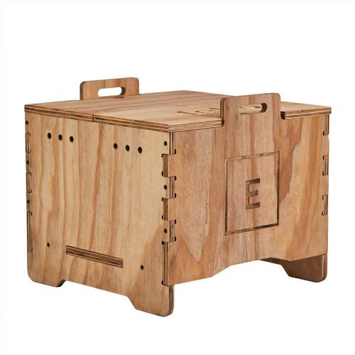 Compostera De Madera 40 Litros Tekó Con Lombrices + Taller