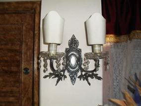 Expetacular Arandelas Bronze Esp, Prata Com Cristais Jpgyn