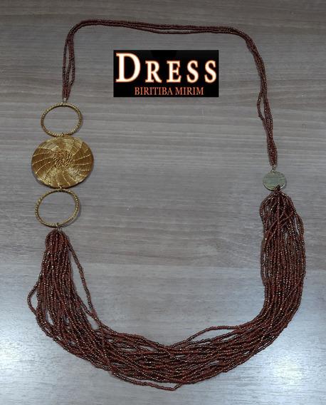 Colar Capim Dourado Capim & Cia Banhado A Ouro Dress 05