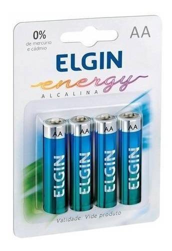Kit 40 Pilhas Alcalinas Aa Elgin Energy Lr6 1,5v (10x4)