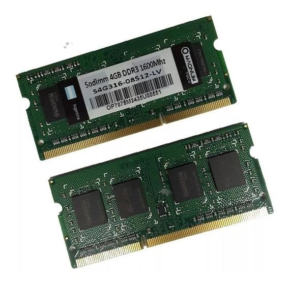 Memoria Sodimm Para Note 4gb Ddr3 1600mhz Magnum Tech