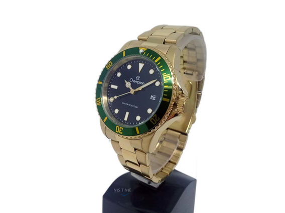 Relógio Champion Masculino Analógico Dourado Ca31266m