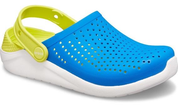 Zapato Crocs Infantil Literide Clog K Azul/amarillo