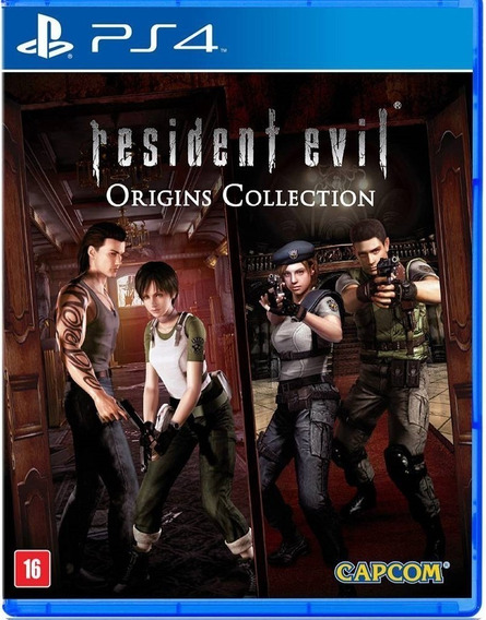 Jogo Novo Midia Fisica Resident Evil Origins Collection Ps4
