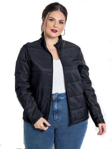 Jaqueta Plus Size Preta Tamanho Grande
