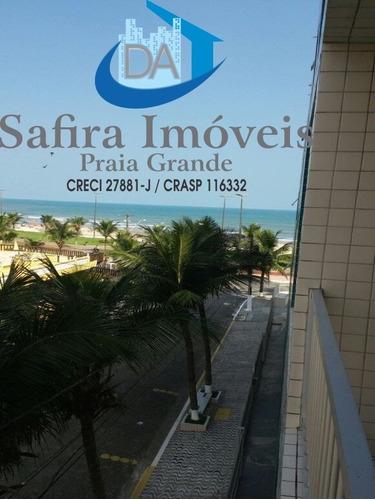Amplo Apartamento De 2 Dormitórios, Com Vista Da Sacada Para O Mar, Apenas 50 Metro Da Praia. Excelente Localização, No Caiçara. Agende Uma Visita Com - Ap00868 - 68655016