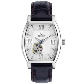 Promoção! Relógio Bulova Original Em Aço E Couro