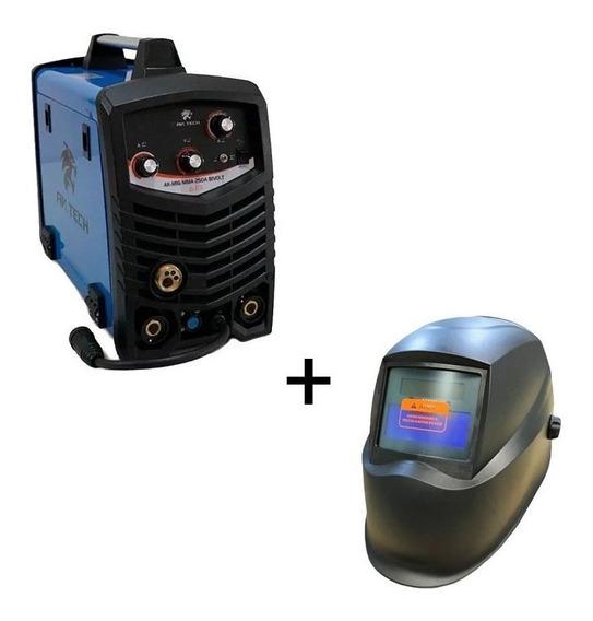 Inversora De Solda Usk Mig Mma Eletrodo 250a Bivolt+mascara