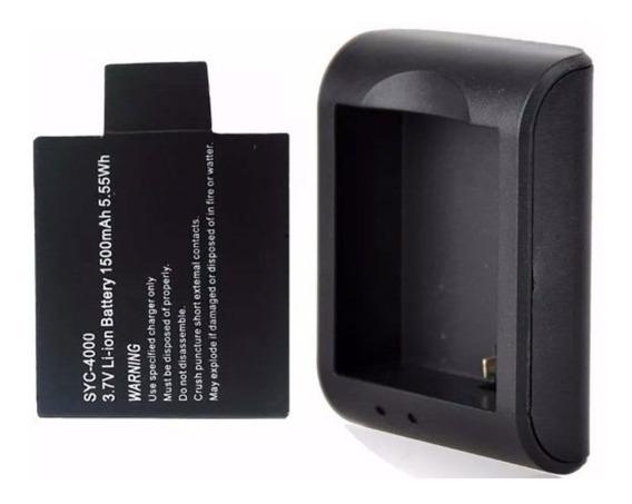 Kit Carregador De Bateria Universal Para Câmeras De Ação