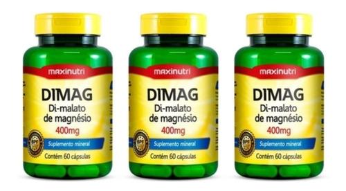 Maxinutri Dimag Di-malato De Magnésio C/60 (kit C/03)