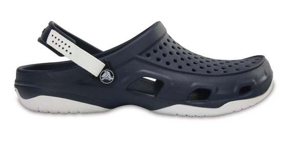 Zapato Crocs Caballero Swiftwater Deck Clog Azul Marino