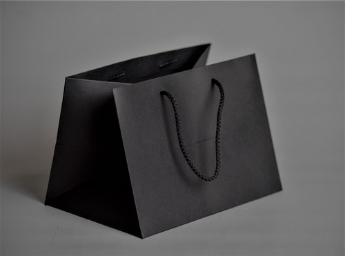 Bolsa Clásica Premium Negra C/cordón 18x25x18cm (x50u) 124n