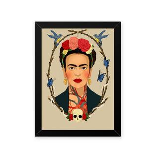 Quadro Frida Caveira 33x43cm