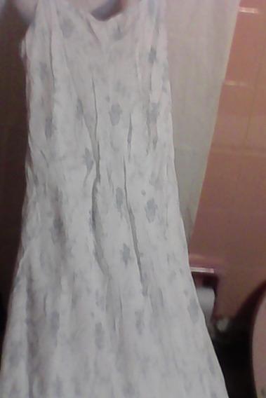 Vestido Largo Diseño Folk Naif-claudia Larreta Ideal 15,play