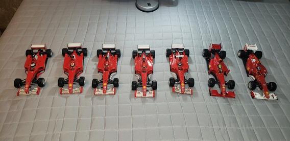 Coleção 7 Ferraris Fórmula 1 Miniaturas 1/18 Hotwheels