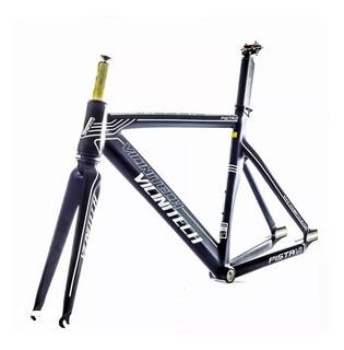 Quadro Bicicleta Fixa Vicinitech Pista V7 Fixo + Kit Canote