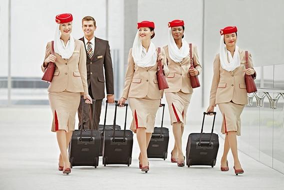 Sapato Salto Aeromoça Emirates Airlines Vermelho Oficial